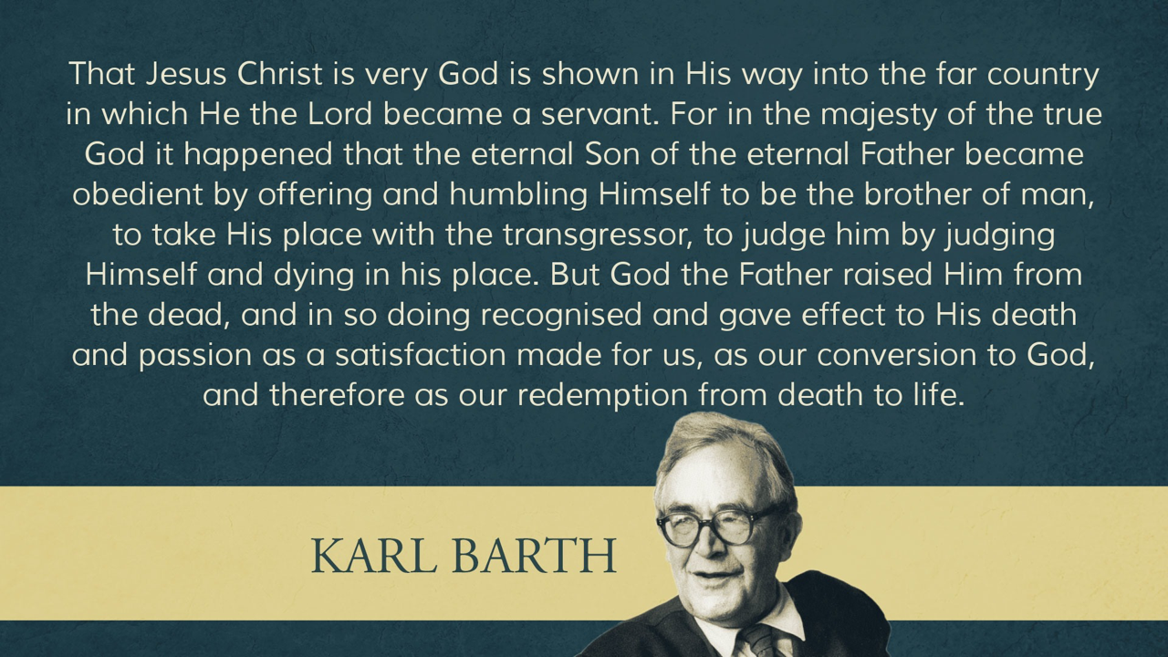 Karl Barth Quote Blue