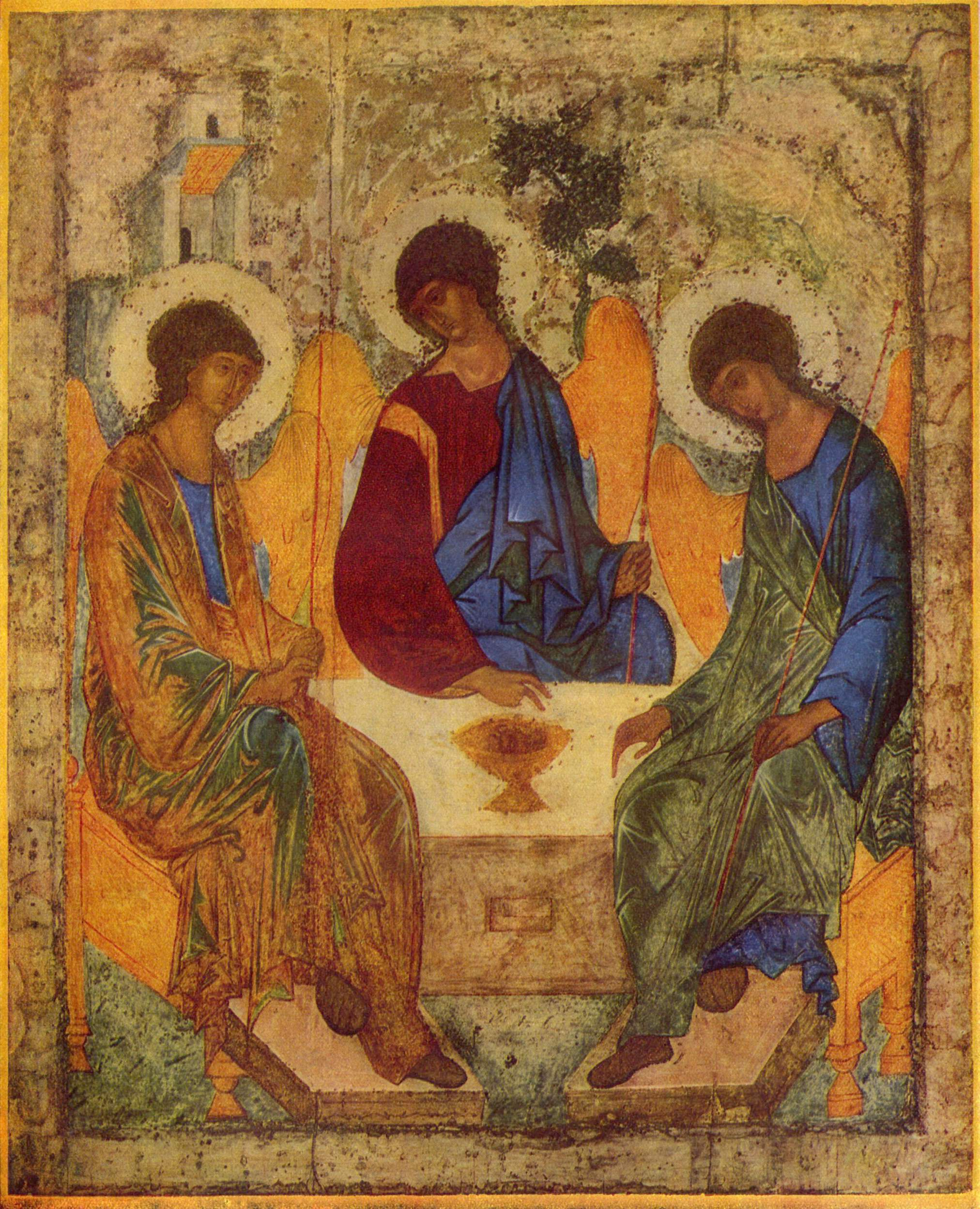 Icon of the Holy Trinity, the main character(s) in Christian theology